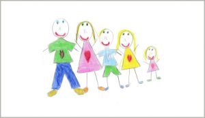 Alexa's drawing of her family