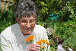 Maureen in her garden