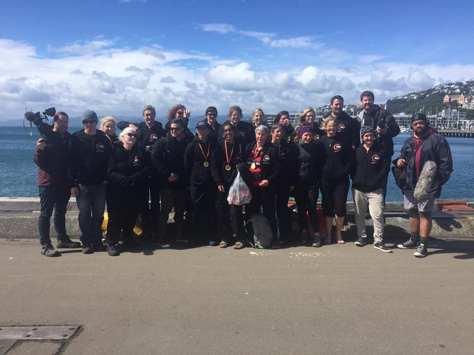 2016's 7 Day Challenge team on the Wellington waterfront.