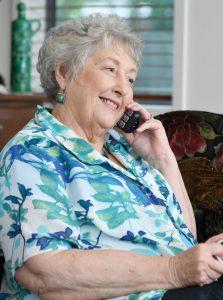 Jenny talking on the phone