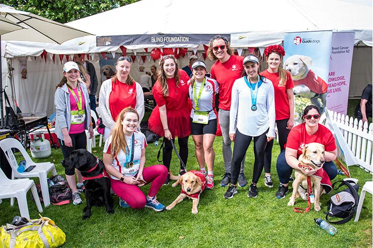 Team photo at the Auckland Marathon 2018